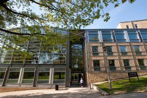 UW Law School is shown from Bascom Mall in 2009.