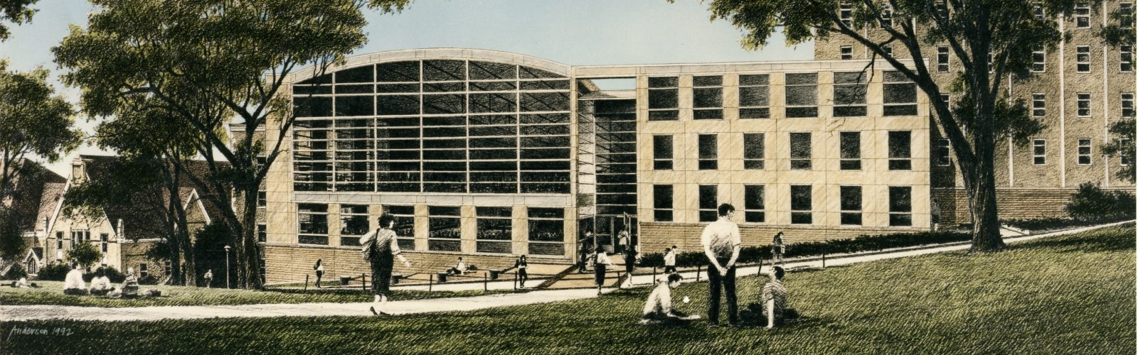 the law building in 1990s