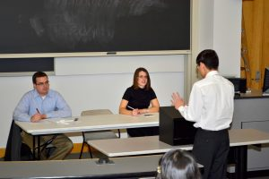 Students participate in the Middle School Mock Trial.