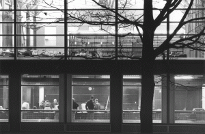 Exterior view of the Law Library in 1997.