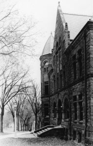 A view of the original Law Building from Bascom.