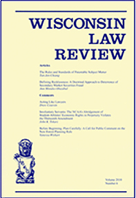 Wisconsin Law Review cover